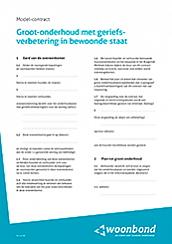 Model-contract groot-onderhoud
